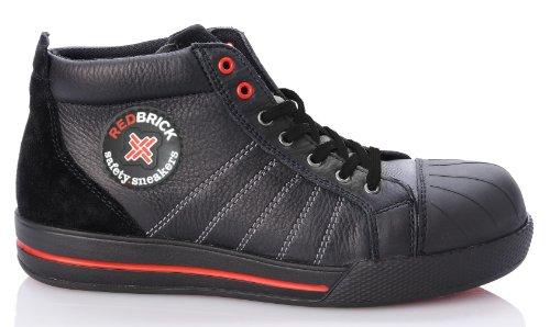 2W4 - RedBrick, Sneaker uomo, (nero/rosso), 39