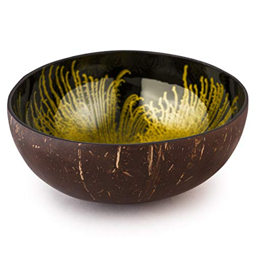 Kaloogo® Cocobowl Splash Kokosnuss Schale (Gold)