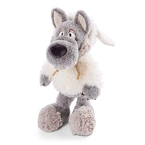 NICI 47081 Kuscheltier Ulvy 35cm – Wolf Plüschtier für Mädchen, Jungen & Babys – Flauschiges Stofftier zum Kuscheln & Spielen – Kuscheliges Schmusetier, Grau/Weiß, 35 cm