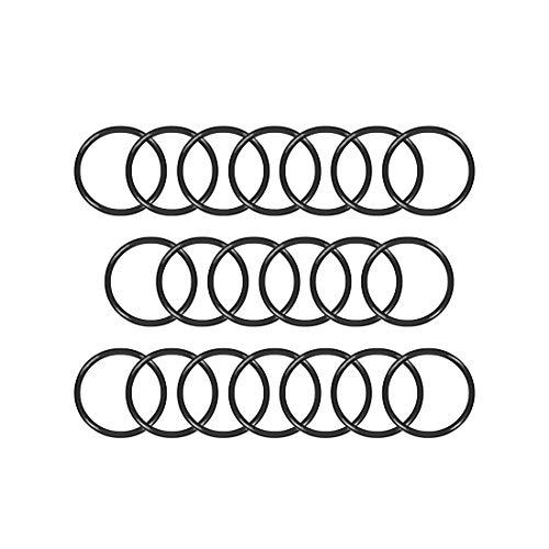 uxcell juntas tóricas de goma de nitrilo, 10 mm – 40 mm de diámetro exterior, 2,5 mm de ancho, junta de sellado redondo