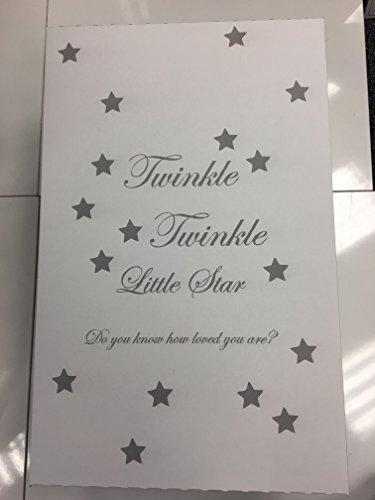 Mooie Unisex Twinkle Twinkle Kleine Ster Grijs & Wit Baby Box - Inclusief Luxe Bamboe Matrassen & Katoen Hoeslaken