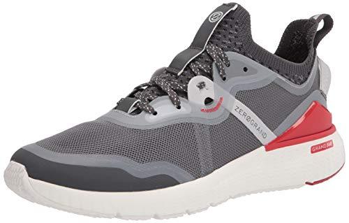 Cole Haan Zerogrand Overtake Runner - Zapatillas de Correr para Hombre, Pantalla silenciosa/Gris Grano/Microchip/Lava fundida/Blanco óptico, 9 US