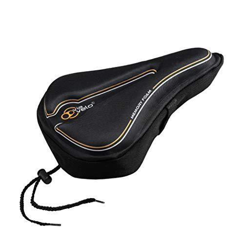 Via Velo Bike Seat Cover Comfortable Memory Bicycle Saddle Cover for Women Men Everyone, Fits Spin Class, MTB and City Bikes, Indoor Cycling,Outdoor Cycling