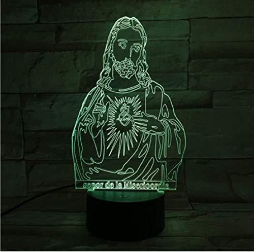 Jesus Figure 7 Colors Change Night Lamp Led 3D Table Light Para Dormitorio Sleeping Lamp Home Decor Art Decor