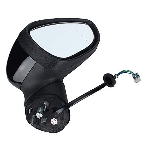 BLLBOO Espejo retrovisor eléctrico, vicio Derecho, Puerta de ala de conducción, Conjunto...