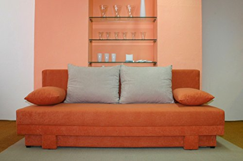 Möbel für Dich Bettsofa/Schlafsofa Lotus schick, modern, mit Farbauswahl und mit FEDERKERN, Braun