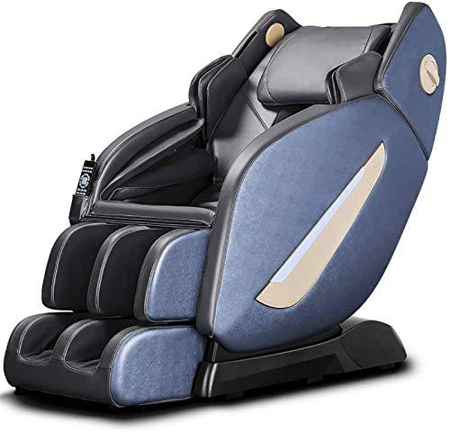 PIAOLIGN Silla de masaje eléctrica de cuerpo completo, 145 cm SL Manipulador eléctrico de cuerpo completo, multifuncional, sofá de masaje de gravedad cero (color: azul)