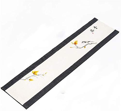 BECCYYLY Corredor de Mesa Tabla Retro Simple Runner, Kung Fu té Accesorios Rollo Cortina, fácil de Limpiar y cuidar, por Mesa de café Comedor Partido Manteles (Color : Style2, Size : 30×300cm)