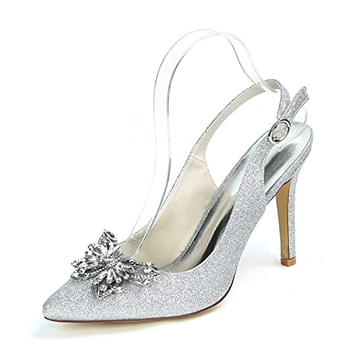 Sandalias de verano, tacones altos para mujer, cristales de satén, sandalias de...