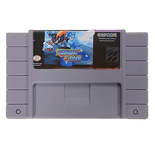 Megaman & Bass Carte de jeu 16 bits pour enregistrement de batterie SFC – Cartouche d'accessoires de jeux rétro pour Nintendo – 1 x cartouche de jeu Megaman et Bass
