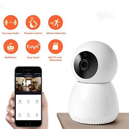 Dome bewakingscamera, draadloze bewakingscamera 1080P Indoor Home Camera Nachtzicht, Bewegingsdetectie, 2-weg audio, voor babyfoon Bewegingsdetectie en huildetectie