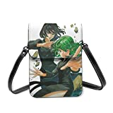 XCNGG bolso del teléfono Crossbody Cell Phone Purse, One Punch Man Small Crossbody Bags - Women PU Leather Multicolor Handbag with Adjustable Strap