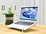 STYLEZONE Portable Acrylic Laptop Stand Detachable Laptop Raiser Laptop Cooling Support Holder Compatible with MacBook Air Mac Pro Dell Notebooks 11-17 Inch