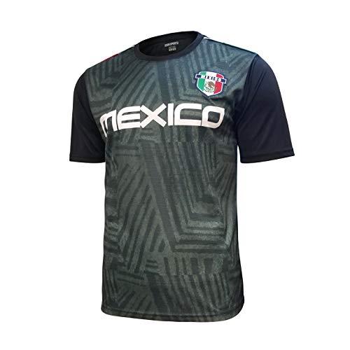 Icon Sports Mexico Soccer Jersey (Medium, Black/Green)