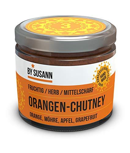 BY SUSANN - 03 ORANGEN-CHUTNEY im Glas (1 x 150 g), Geschmackserlebnisse mit intensiven und natürlichen Aromen, fruchtig, herb, mittelscharf