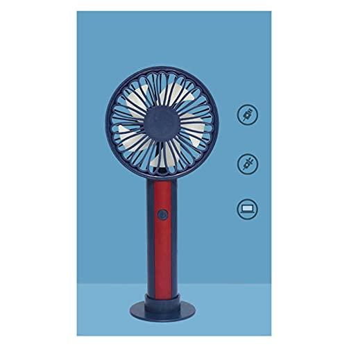 ZHUANQIAN Ventilador Portátil, Refrigerador Verano Mini Ventilador Mano Cargar Escritorio Personal Fan Recargable Oficina Portátil (Color : Blue)