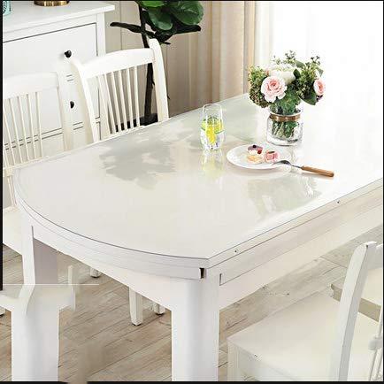 WLF-didina Rechteckiger Abdeckungsschutz, Tischdecke aus transparentem PVC-Kunststoff, geeignet für Esstisch, Schreibtisch, 6 Größen, 3 Stärken,1.2mm,80 * 120CM