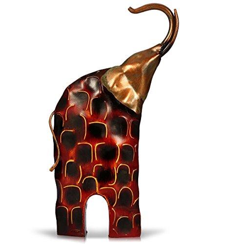 TOOARTS - Escultura Metálica Hecha a Mano - La Vida:Calma y Locura - Aparatos Tallados forma de Elefante para la Decoración del Hogar (Obra de Arte)