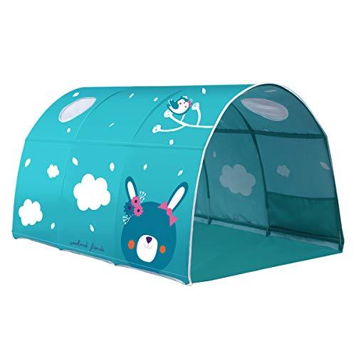 Dreamworldeu Tunnel für Hoch- und Etagenbetten Spielbett Kindersbett Grün