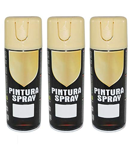 Pintura Spray Ocre 400 Ml - Pack de 3 Unidades