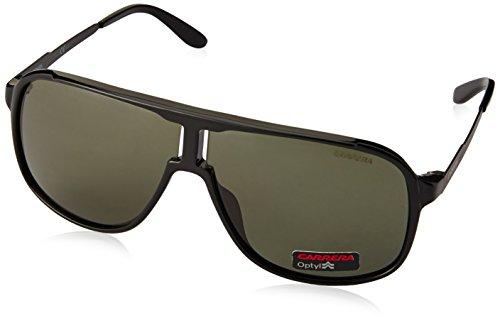 Carrera New Safari NR GTN Gafas de Sol, Negro (Matte Black Shiny Black/Brown Grey), 62 Unisex-Adulto