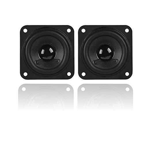 2 Piezas 2 Pulgadas 61 mm Altavoz de frecuencia Completa 8Ω Doble magnético de Alta sensibilidad DIY Bass SPE