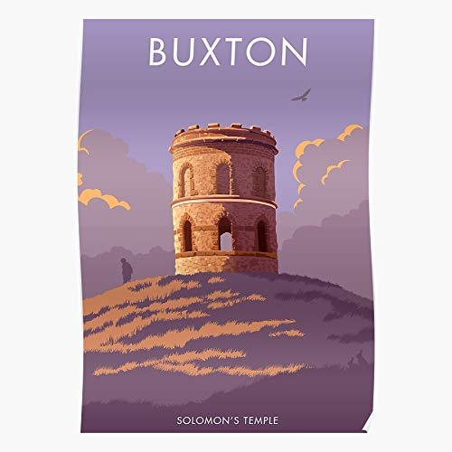 Generic Heritage District Retro Nostalgia Buxton Temple Peak Solomons England Derbyshire Home Decor Wandkunst drucken Poster !