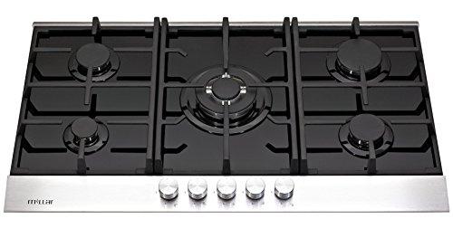 Millar GH9051TDB Plaque de cuisson en Verre trempé avec 5 brûleurs à gaz Noir 90 cm/Table de Cuisson …