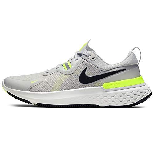Nike React Miler, Zapatos para Correr para Hombre, Grey Fog/Black/Particle Grey/Volt, 46 EU