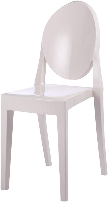 LRW European Chair Plastic Modern Creative Bar, Dining Chair, Computer Chair, White
