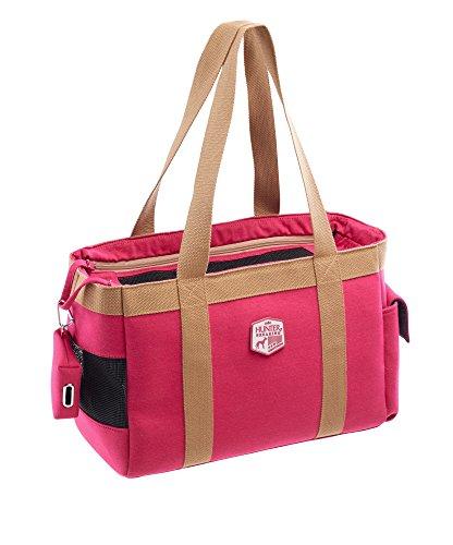 HUNTER Perth Tragetasche, Transporttasche für Hunde und Katzen, 38 x 19 x 26 cm, pink