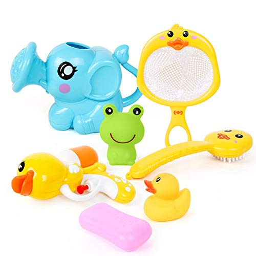 VCOSTORE Baby Badespielzeug, 7 Stück Soft Cute Kids Schwimmendes Badespielzeug Tiere Badespritzer Spielzeug für Kleinkinder Kinder