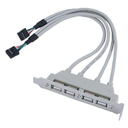 Sourcingmap Mainboard 4Port USB 2.09-Pin Header Halterung Verlängerungskabel de