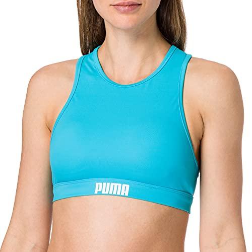 PUMA Frauen Racerback Swim Top Bikini Oberteil, Scuba Blue, M