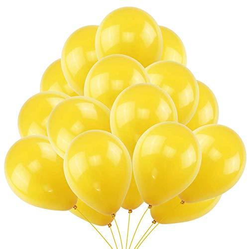 Jonami 50 Palloncini Gialli in Lattice Premium. Palloncini per Elio da 36 cm in Giallo di 3,2g. Decorazioni e Accessori per Festa di Compleanno