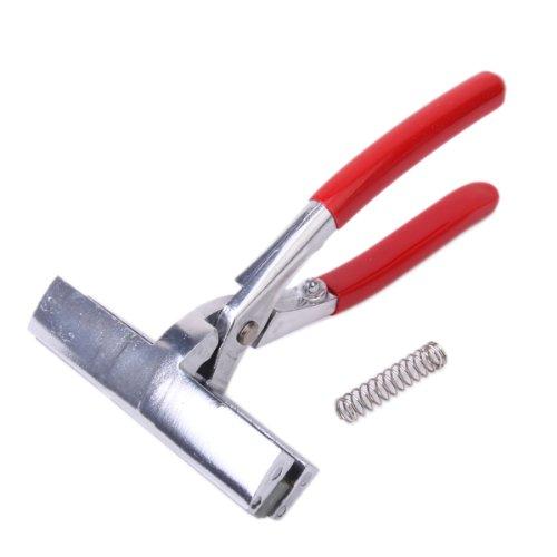 Generic - Tenazas tensoras para lienzos (aleación de aluminio, con muelle), color rojo y plateado