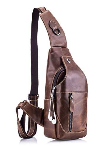 WeeDee Leather Sling Bag for Men