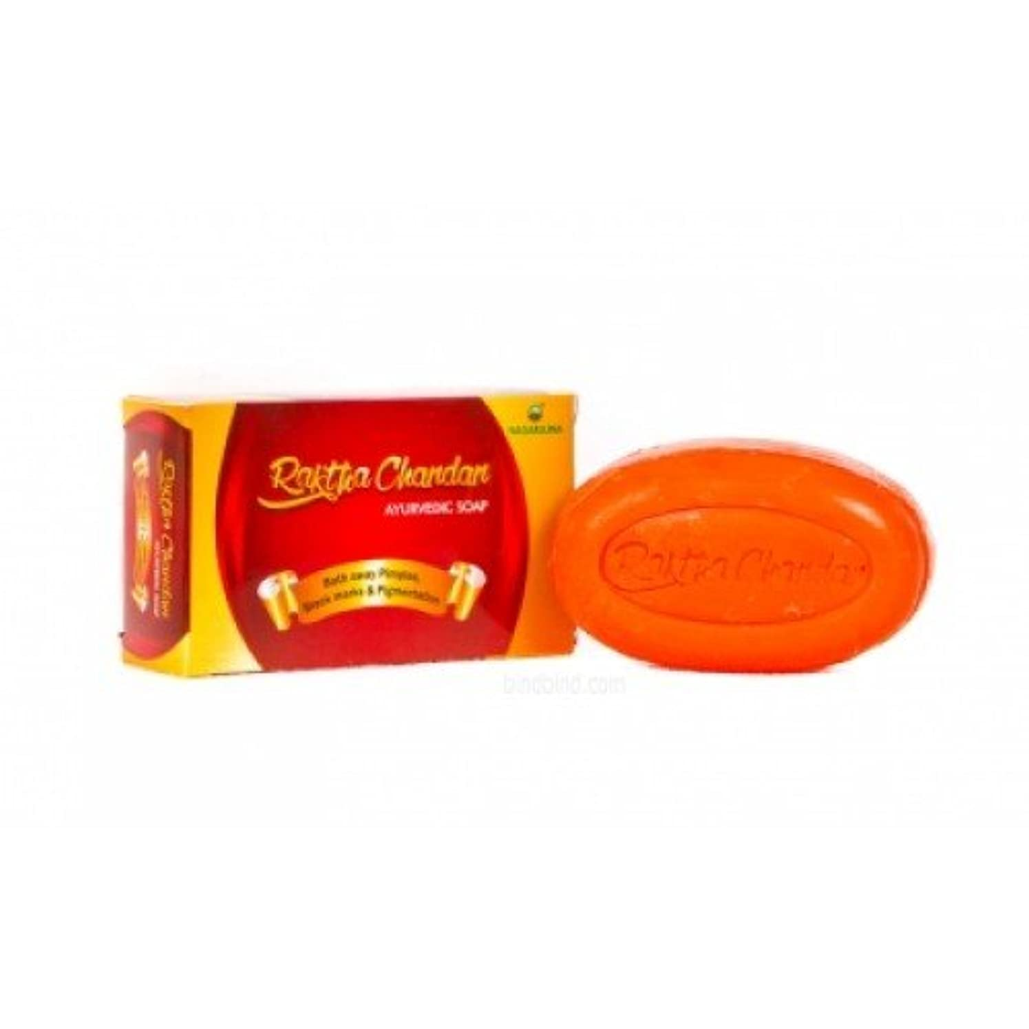 取り囲むひどいパスポートNagarjuna Raktha Chandan Ayurvedic Soap Best For Glowing Skin