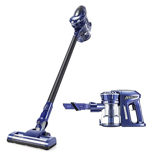 PUPPYOO Cordless Vacuum Cleaner, 2 in 1 Handheld Vacuum with 9Kpa Strong Suction Bagless Stick Rechargeable Lightweight Vacuum for Floor Carpet Car Pet Hair Wall Mount,536