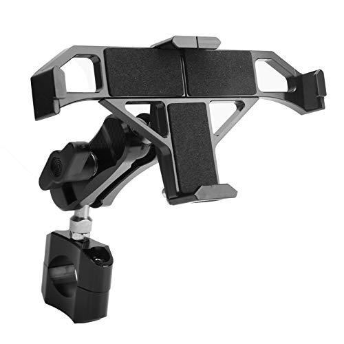 Qiilu Soporte universal para teléfono para motocicleta para manillar de 22 mm, soporte giratorio de 360 grados para teléfono
