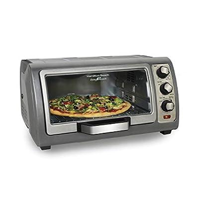 Hamilton Beach Countertop Toaster Oven, Easy Reach With Roll-Top Door, 6-Slice, Convection (31123D), Silver