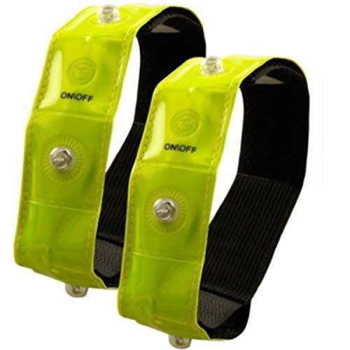 Timtina Reflektorbänder Sicherheits Reflektorstreifen Armreflektoren mit leuchtstarken LED (2)