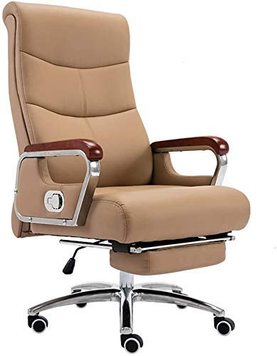 WSDSX Office Chairs Computer Chair High Back Reclining Executive Ergonomic Office Desk Chair with Footrest Leather Desk Gaming Chair PU Leather Fabric Height Adjustable Computer Desk Cha