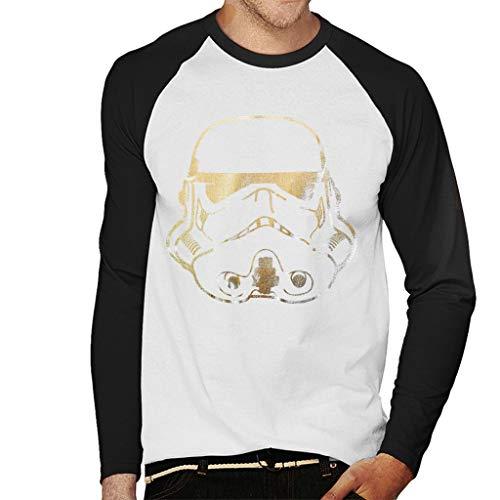 Originele Stormtrooper helm gouden folie mannen honkbal lange mouwen T-Shirt