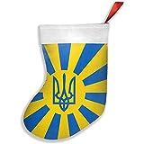 Novelcustom Weihnachtsstrumpf,Kaiserliche Ukrainische Flaggen-Weihnachtsstrumpf-Socken-Dekoration Für Kamin 26X42Cm