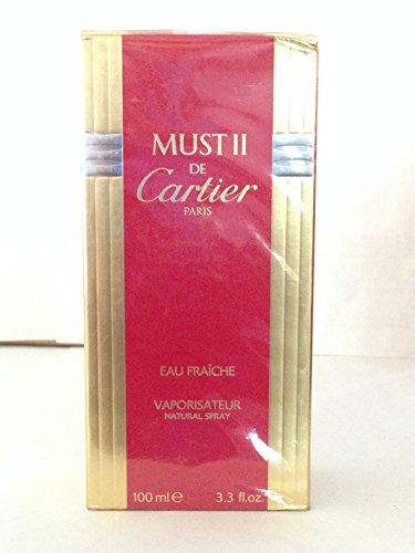 Must De Cartier Ii Eau Fraiche 3.3 Oz Eau De Toilette Spray for Ladies by Cartier