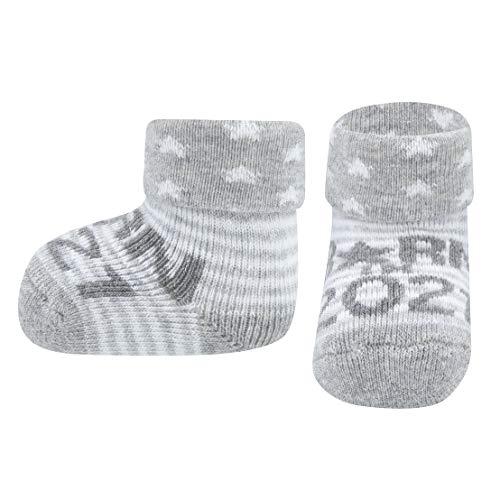 Ewers NEWBORN Babysocken für Jungen & Mädchen BORN IN 2021, Baumwolle Baby Socken Erstling Geburt