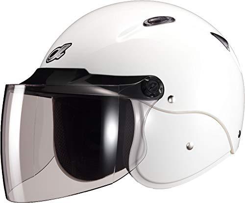 マルシン(MARUSHIN) バイクヘルメット セミジェット M-204 ホワイト フリーサイズ(57~~59CM)