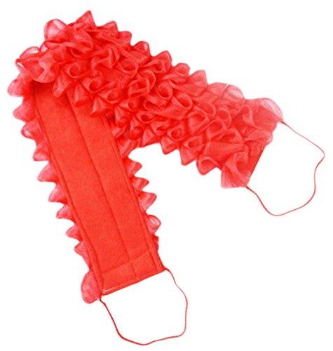 Double Épaissir Bath Fleur Retour Strap serviettes Wash facilement-Rouge