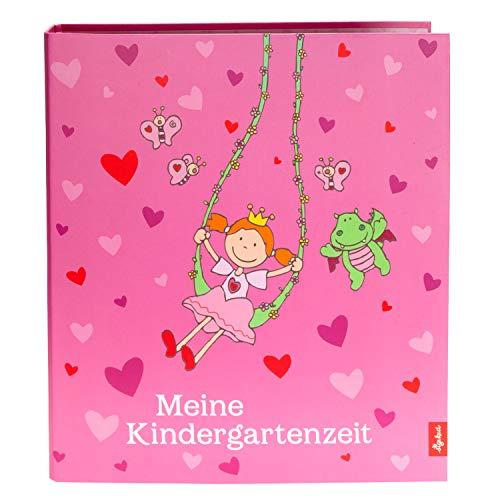 Goldbuch, Pinky Queeny, 35447, kinderdagopvangmap, A4, met 4 geïllustreerde scheidingsbladen, rug 5,5 cm, kunstdruk gelamineerd met UV-lak, roze